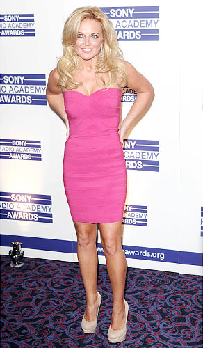 Geri Halliwell pink Herve Leger dress