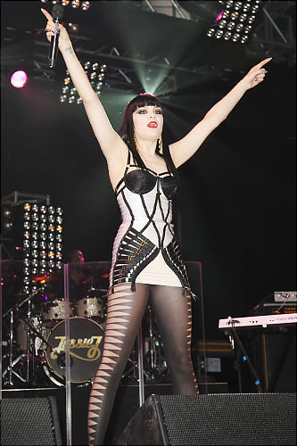 Jessie J Herve Leger dress