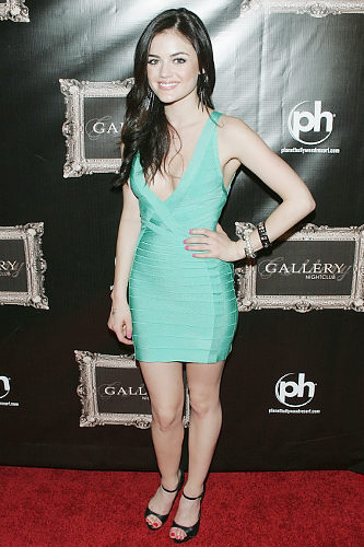 Lucy Hale Herve Leger