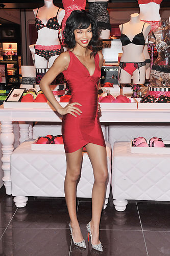 Chanel Iman Herve Leger dress