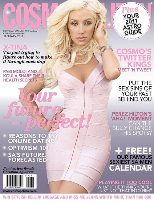 Cosmopolitan Christina Aguilera Herve Leger