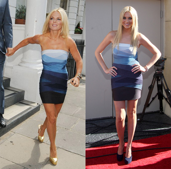 Geri Halliwell Herve Leger dress