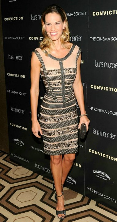 Hilary Swank Herve Leger dress