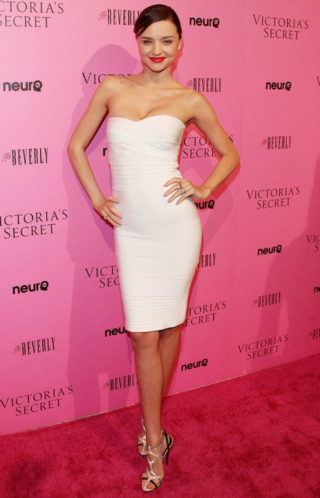 Miranda Kerr Herve Leger dress