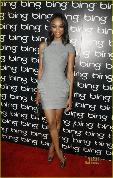 Zoe Saldana Herve Leger dress