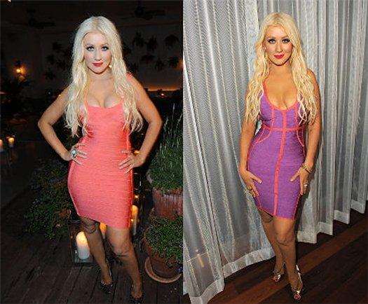 Christina Aguilera Herve Leger