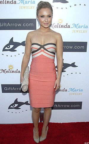 Herve Leger dress red carpet