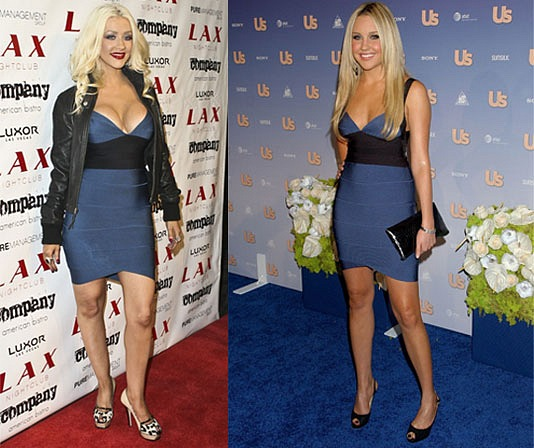 Christina Aguilera Herve Leger dress
