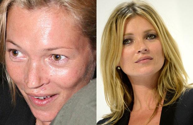 Кейт Мосс без макияжа