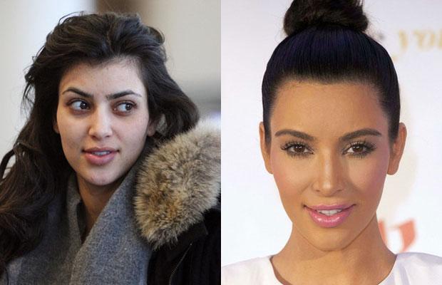 Ким Кардашьян без макияжа