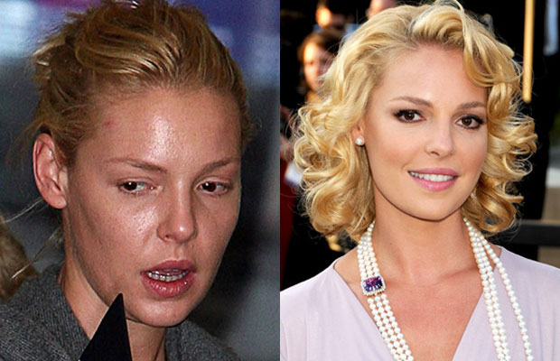 Кэтрин Хейгл без макияжа