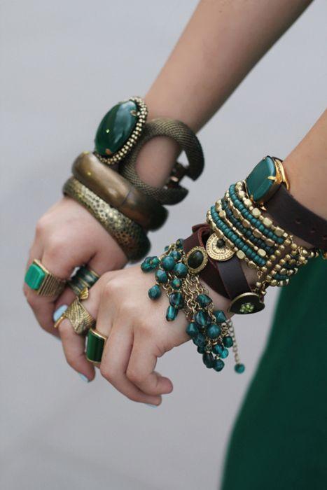 Массивные браслеты этно