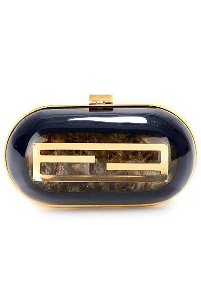 Fendi hard case clucth