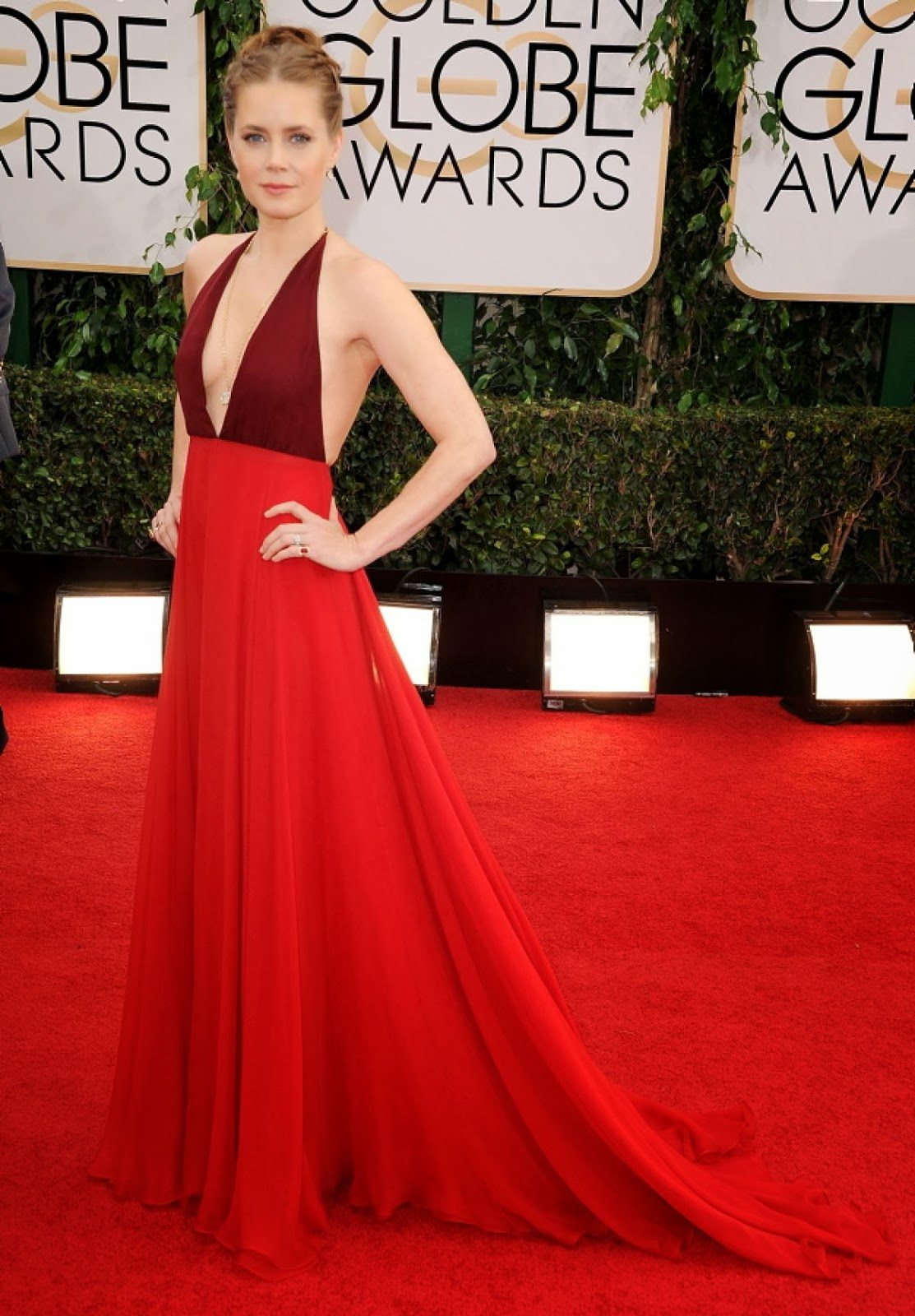 Amy Adams red dress
