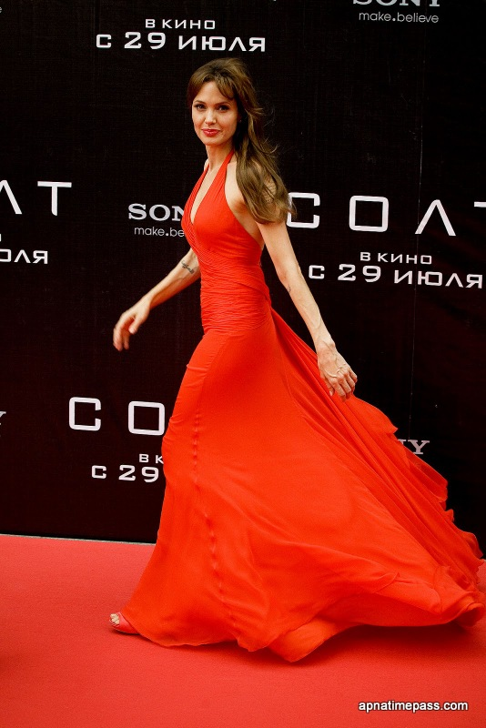 Angelina Jolie red dress