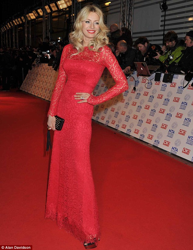 Ashley Roberts red dress