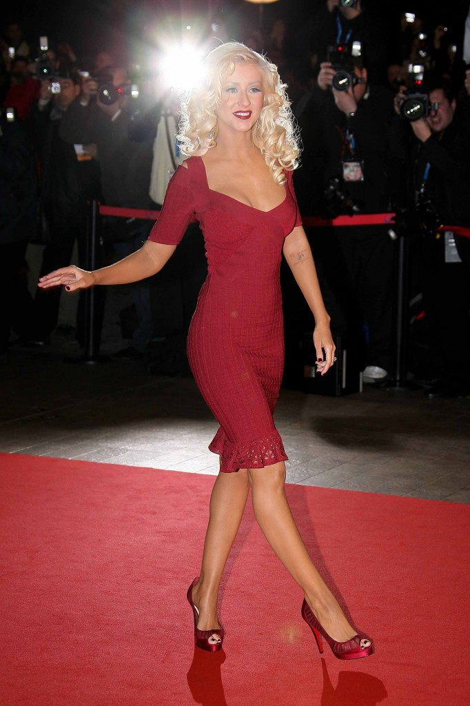 Christina Aguilera red dress