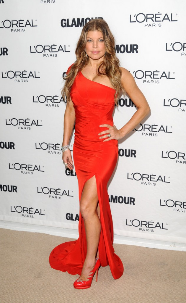 Fergie red dress