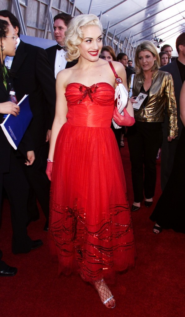 Gwen Stefani red dress