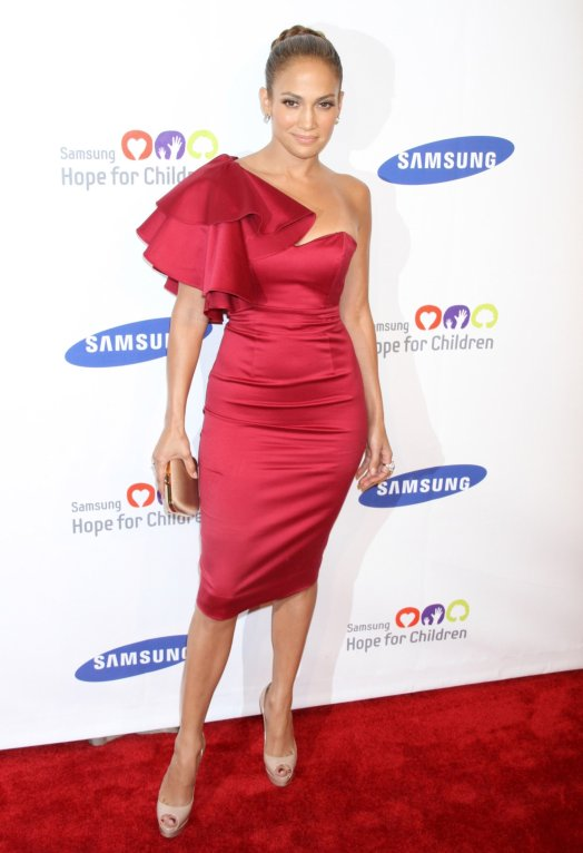 Jennifer Lopez red dress