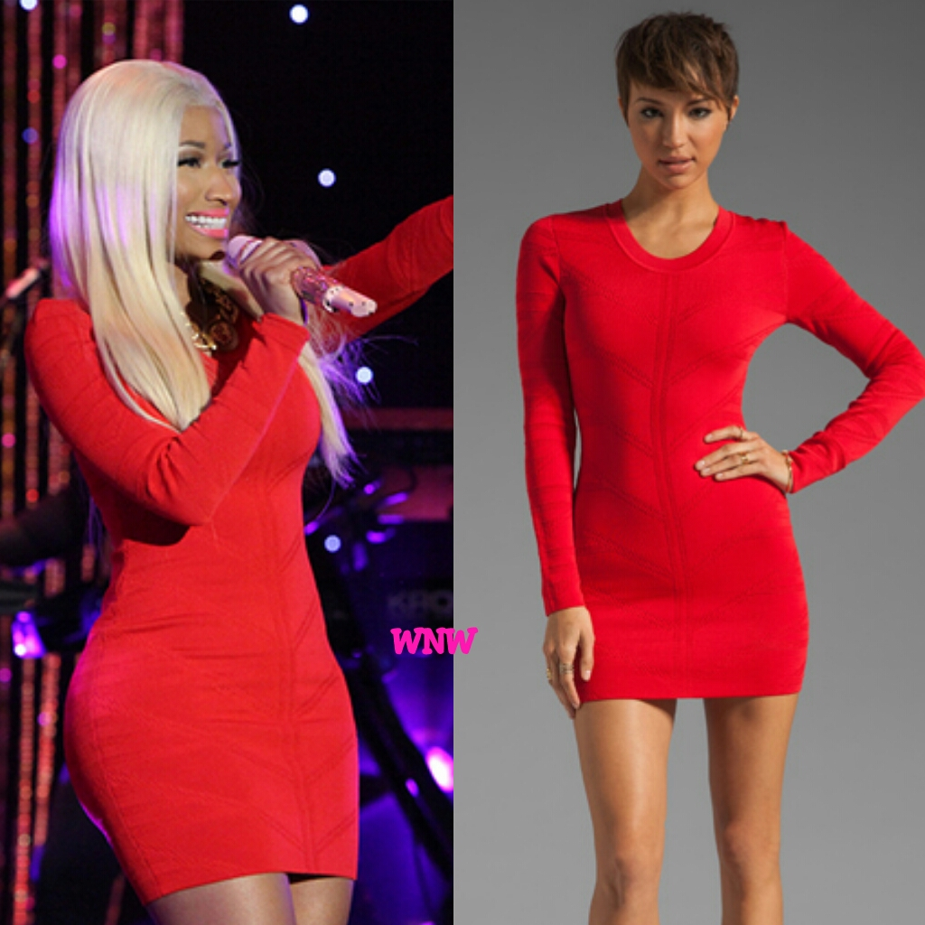 Nicki Minaj red dress