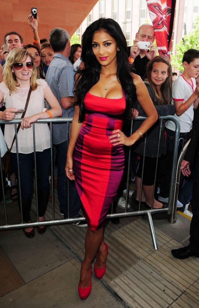 Nicole Scherzinger red dress