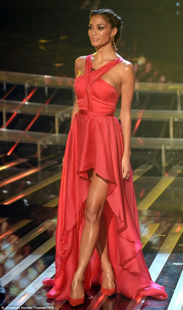 Nicole Scherzinger red dress6