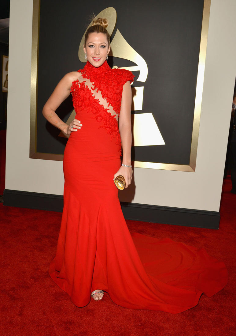 colbie caillat red dress