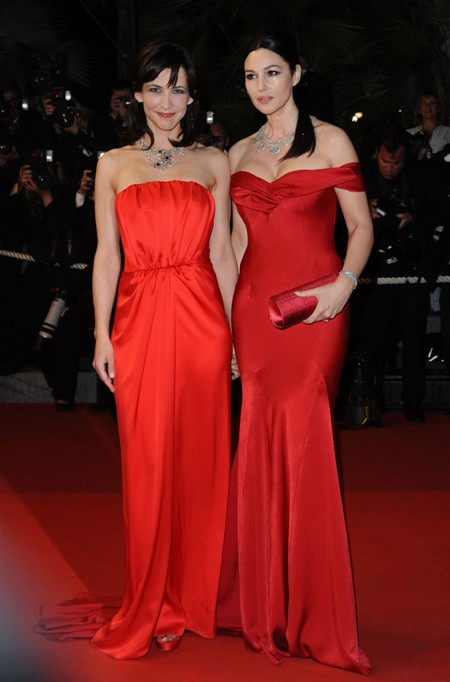 monica bellucci red dress