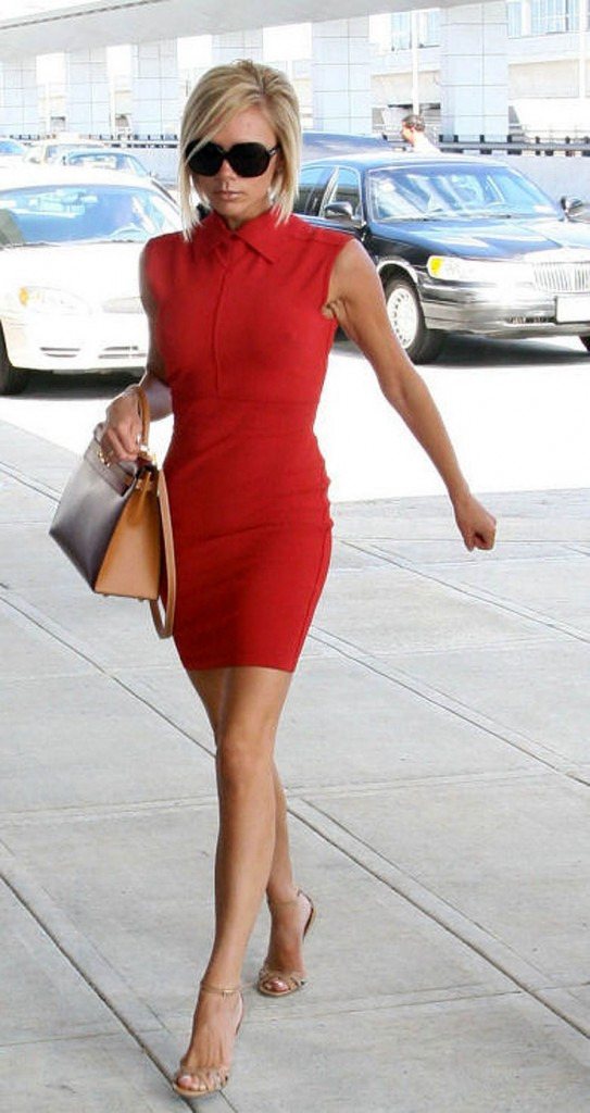 victoria beckham red dress