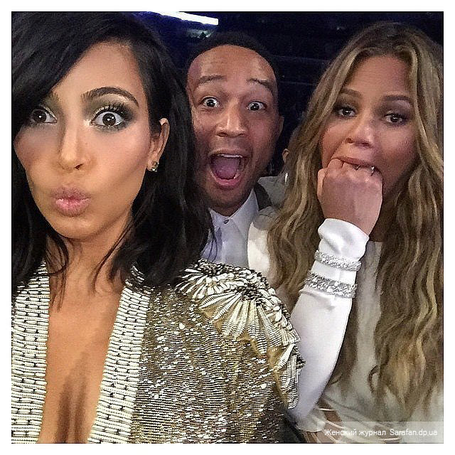 Kim Kardashian Chrissy Teigen and John Legend